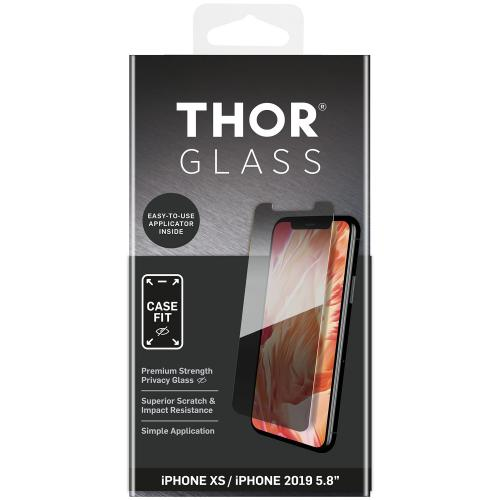 Case-Fit Privacy Screenprotector + Easy Apply Frame voor iPhone 11 Pro / iPhone X(s)