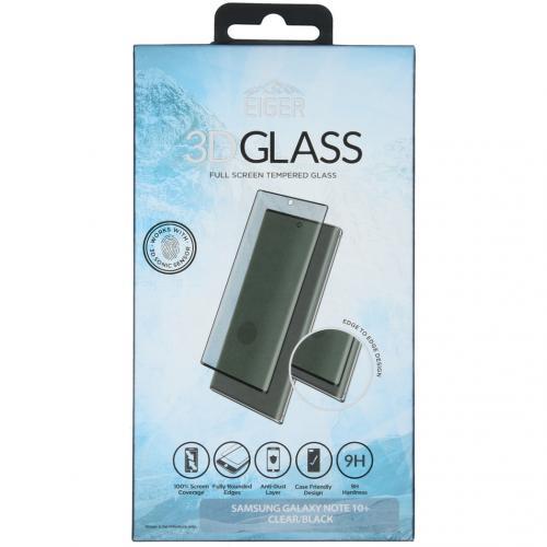 Case Friendly Glass Screenprotector voor Samsung Galaxy Note 10 Plus - Zwart