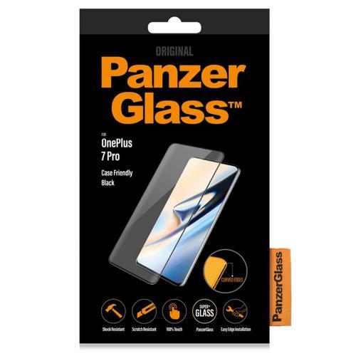 Case Friendly Screenprotector voor de OnePlus 7 Pro / 7T Pro - Zwart