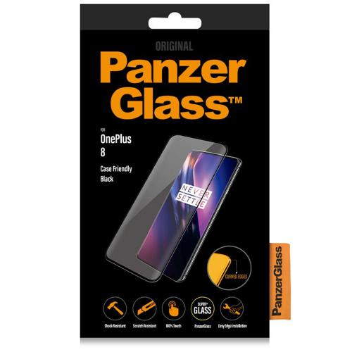 Case Friendly Screenprotector voor de OnePlus 8 - Zwart
