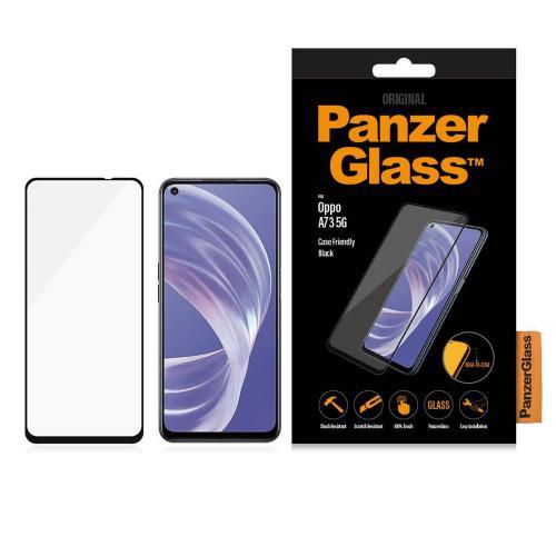 Case Friendly Screenprotector voor de Oppo A73 (5G) - Zwart