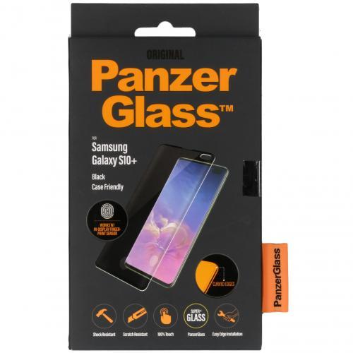 Case Friendly Screenprotector voor Samsung Galaxy S10 Plus - Zwart