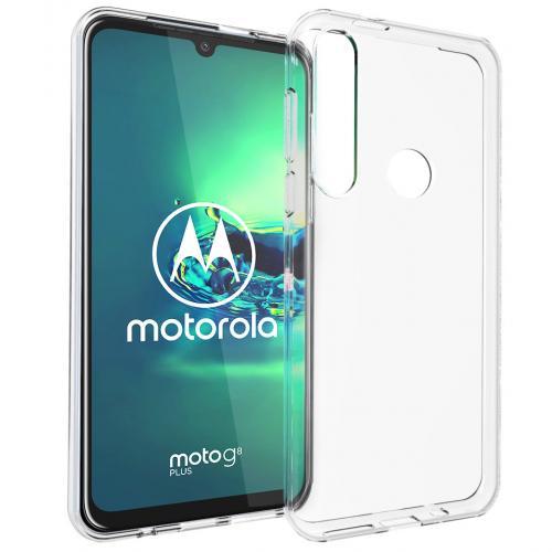 Clear Backcover voor de Motorola Moto G8 Plus - Transparant