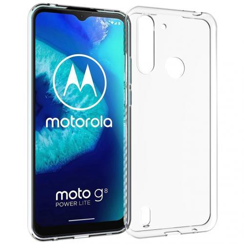 Clear Backcover voor Motorola Moto G8 Power Lite - Transparant