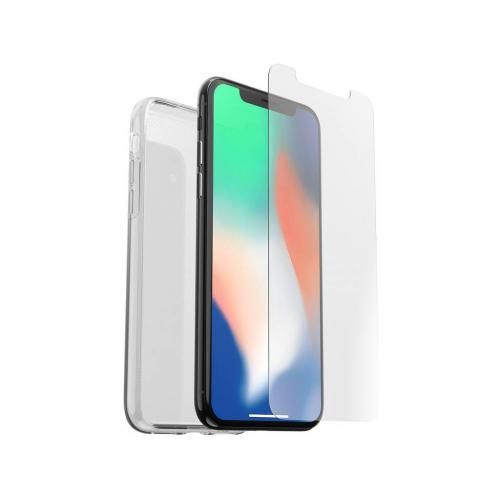 Clearly Protected Cover + Alpha Glass voor iPhone Xs Max - Transparant