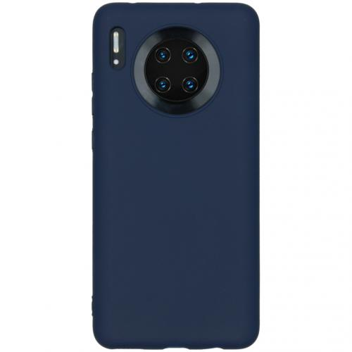 Color Backcover Huawei Mate 30 - Donkerblauw