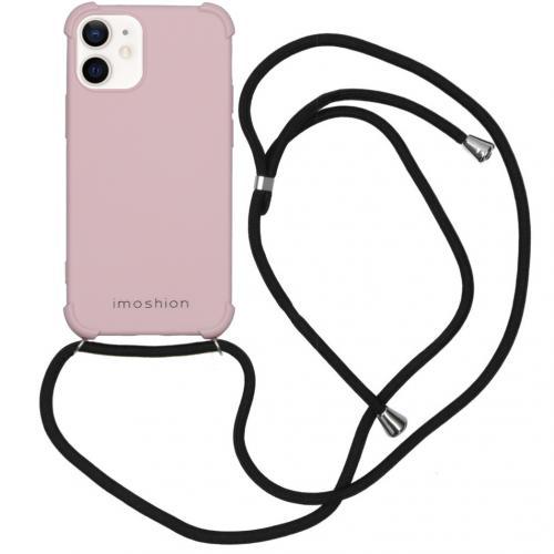 Color Backcover met koord voor de iPhone 12 Mini - Roze