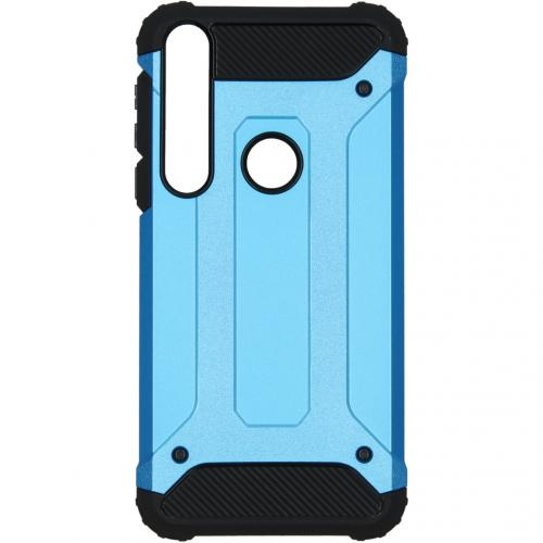 Color Backcover Motorola Moto E6 Plus - Donkerblauw