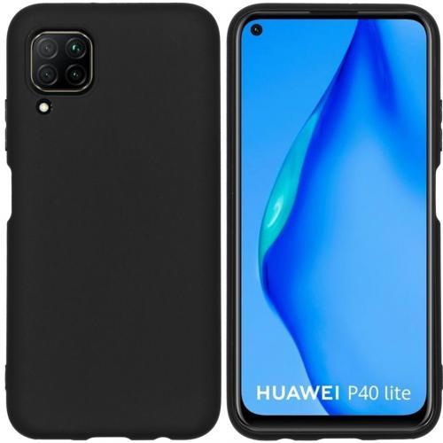 Color Backcover voor de Huawei P40 Lite - Zwart