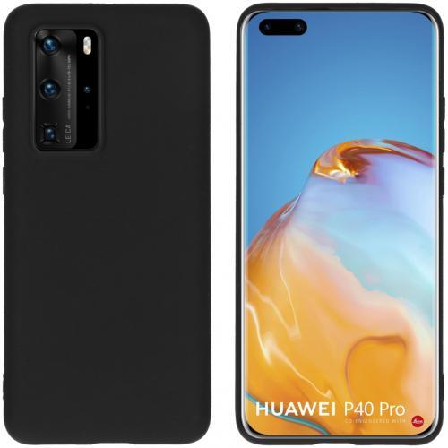 Color Backcover voor de Huawei P40 Pro - Zwart