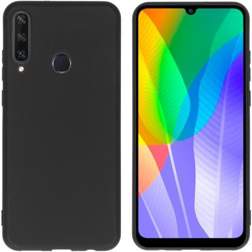 Color Backcover voor de Huawei Y6p - Zwart