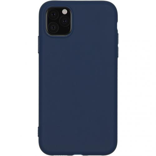 Color Backcover voor de iPhone 11 - Donkerblauw