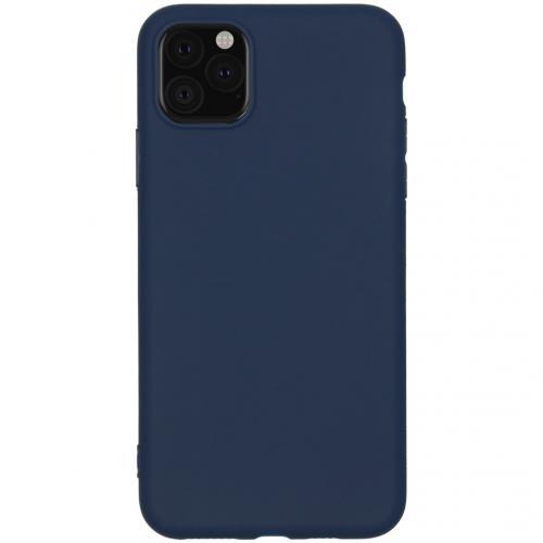 Color Backcover voor de iPhone 11 Pro Max - Donkerblauw