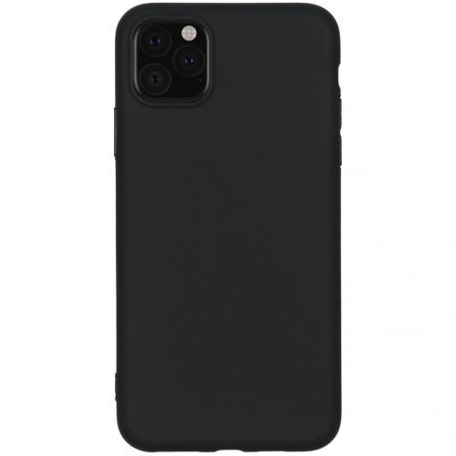Color Backcover voor de iPhone 11 Pro Max - Zwart