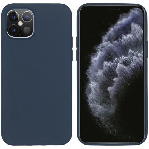 Color Backcover voor de iPhone 12 6.1 inch - Donkerblauw