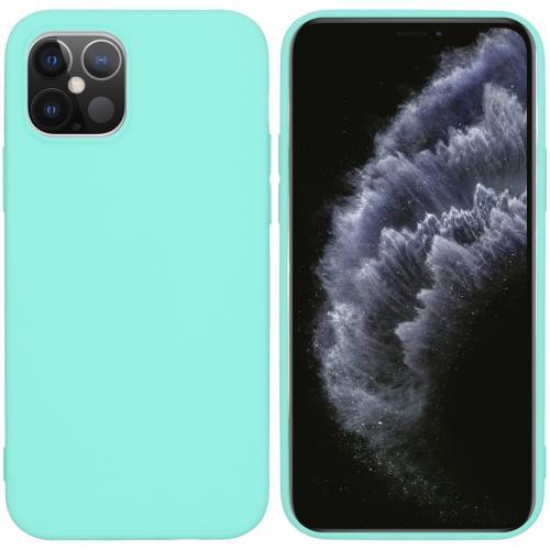 Color Backcover voor de iPhone 12 6.1 inch - Mintgroen