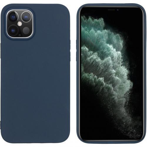 Color Backcover voor de iPhone 12 6.7 inch - Donkerblauw