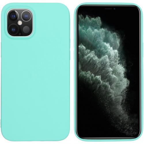 Color Backcover voor de iPhone 12 6.7 inch - Mintgroen