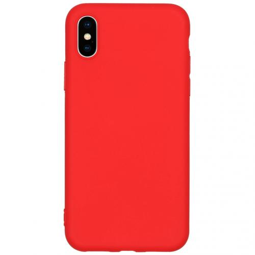 Color Backcover voor de iPhone X / Xs - Rood