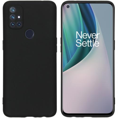 Color Backcover voor de OnePlus Nord N10 5G - Zwart