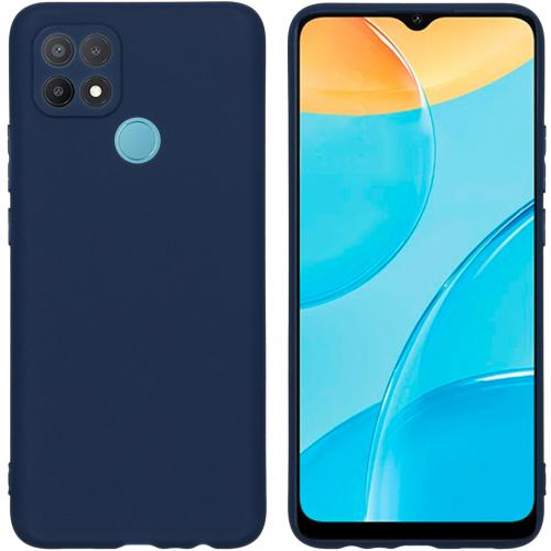 Color Backcover voor de Oppo A15 - Donkerblauw