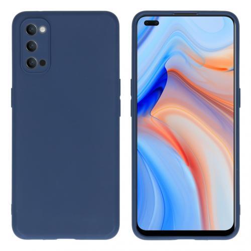 Color Backcover voor de Oppo Reno4 5G - Donkerblauw