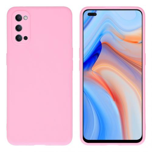 Color Backcover voor de Oppo Reno4 5G - Roze