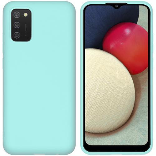 Color Backcover voor de Samsung Galaxy A02s - Mintgroen