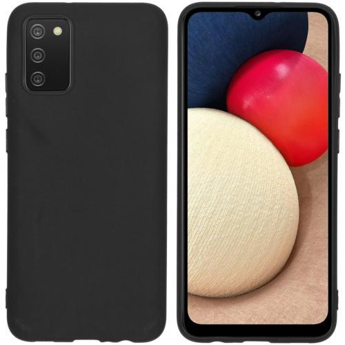 Color Backcover voor de Samsung Galaxy A02s - Zwart