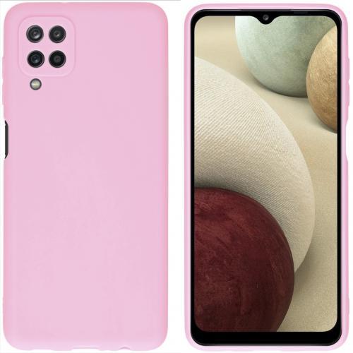 Color Backcover voor de Samsung Galaxy A12 - Roze