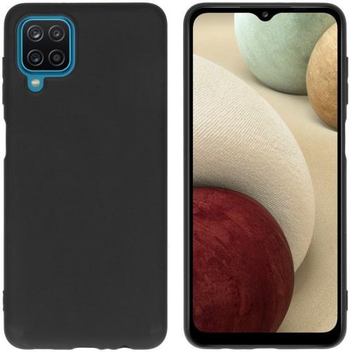 Color Backcover voor de Samsung Galaxy A12 - Zwart