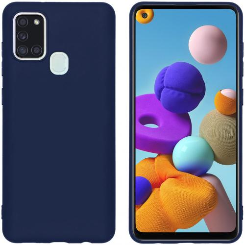 Color Backcover voor de Samsung Galaxy A21s - Donkerblauw