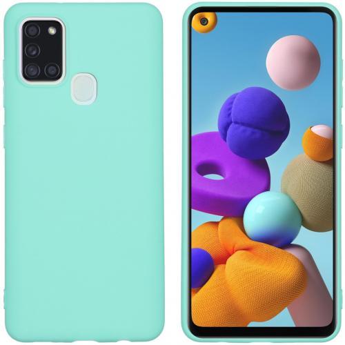 Color Backcover voor de Samsung Galaxy A21s - Mintgroen