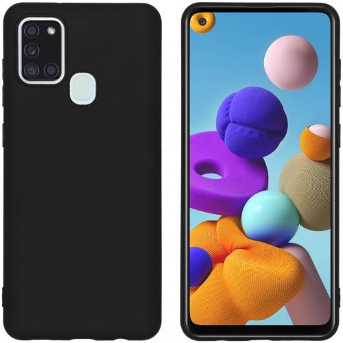 Color Backcover voor de Samsung Galaxy A21s - Zwart