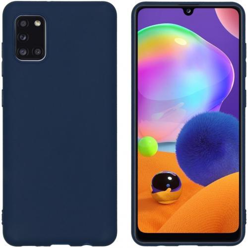 Color Backcover voor de Samsung Galaxy A31 - Donkerblauw