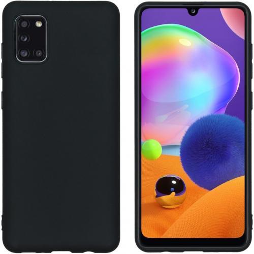 Color Backcover voor de Samsung Galaxy A31 - Zwart
