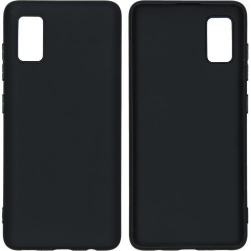 Color Backcover voor de Samsung Galaxy A41 - Zwart