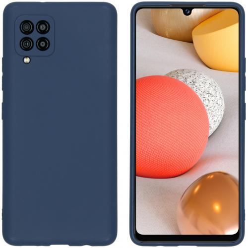 Color Backcover voor de Samsung Galaxy A42 - Donkerblauw