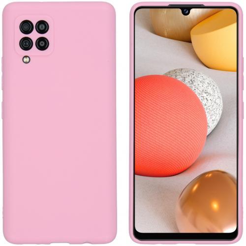 Color Backcover voor de Samsung Galaxy A42 - Roze