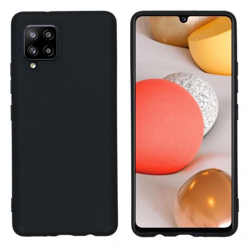 Color Backcover voor de Samsung Galaxy A42 - Zwart