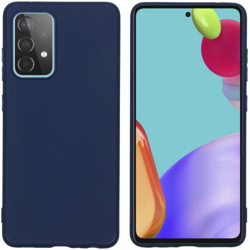 Color Backcover voor de Samsung Galaxy A52 (5G) / A52 (4G) - Donkerblauw