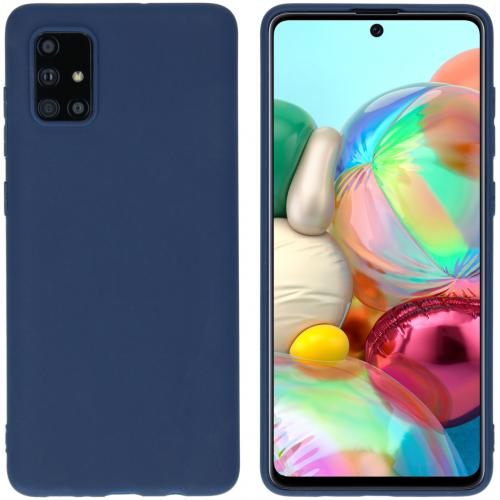 Color Backcover voor de Samsung Galaxy A71 - Donkerblauw