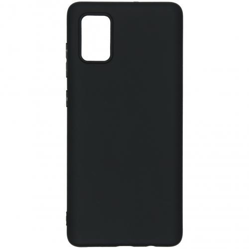 Color Backcover voor de Samsung Galaxy A71 - Zwart