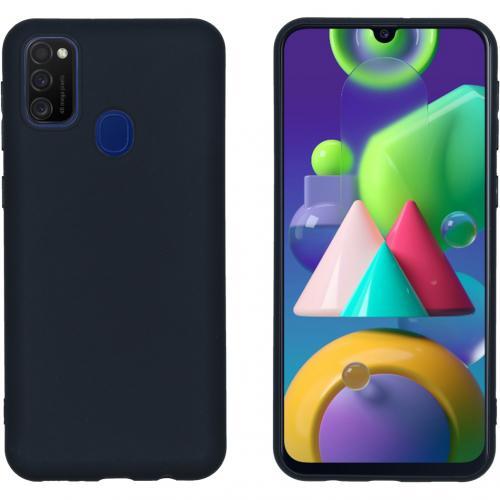 Color Backcover voor de Samsung Galaxy M30s / M21 - Zwart