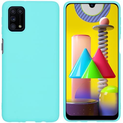 Color Backcover voor de Samsung Galaxy M31s - Mintgroen