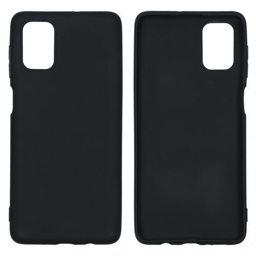 Color Backcover voor de Samsung Galaxy M51 - Zwart