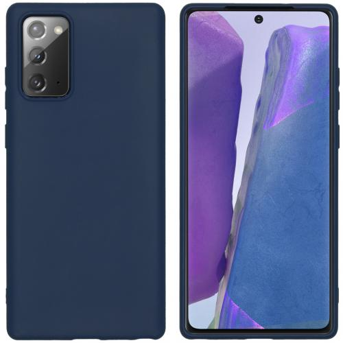 Color Backcover voor de Samsung Galaxy Note 20 - Donkerblauw