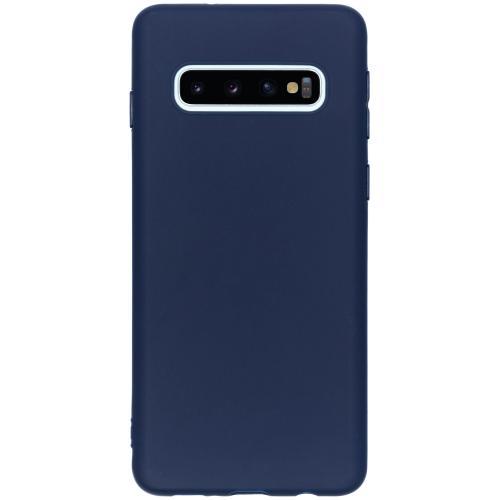 Color Backcover voor de Samsung Galaxy S10 - Donkerblauw