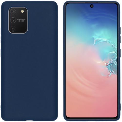 Color Backcover voor de Samsung Galaxy S10 Lite - Donkerblauw