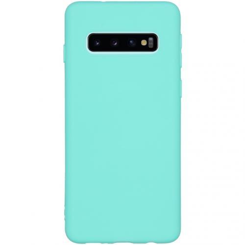 Color Backcover voor de Samsung Galaxy S10 - Mintgroen